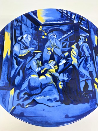 """DEKORATYVINĖ LĖKŠTĖ """"KALĖDOS"""", 1981, 1 vnt, PORCELIANAS"""