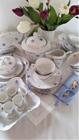 """SERVIZAS HUTSCHENREUTHER """"BLUE ROMANCE"""", 6 asm, PLONASIS PORCELIANAS"""