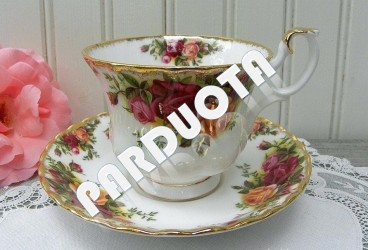 """PUODELIS DUO ROYAL ALBERT """"OLD COUNTRY ROSES"""", 1 vnt , KAULINIS PORCELIANAS"""